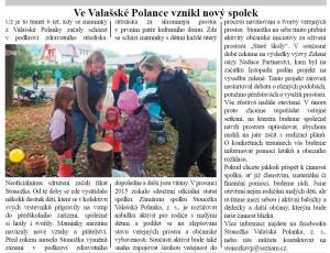 Ve Valašské Polance vznikl nový spolek